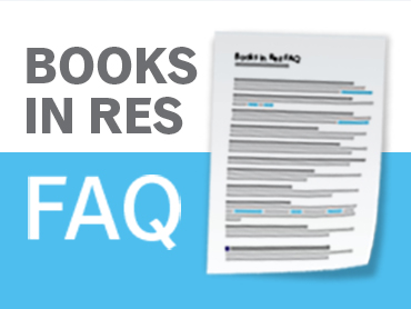 Books in Res Frequently Asked Questions