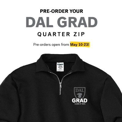 Limited time offer: Pre-order your Dal Grad quarter zip hoodie