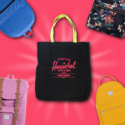 Get a FREE TOTE with the purchase of a Herschel backpack!