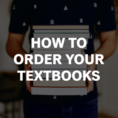 How to order your textbooks